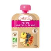 法國Babybio 有 機蘋果藍莓草莓纖果泥 90g[衛立兒生活館]