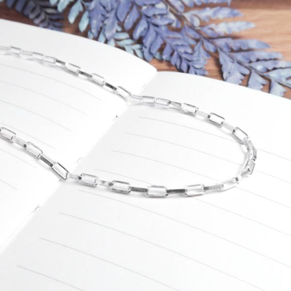 長方盒鍊(2.0mm中細鍊) 28吋 925純銀項鍊