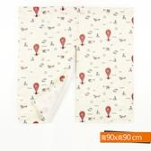 熱氣球印花短門簾 90x90cm