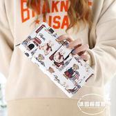 錢包女新款日韓女士長款錢包可愛小熊二折學生錢夾拉鏈手拿包