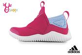 adidas童鞋 毛毛蟲鞋 RAPIDAZEN C 女童運動鞋 跑步鞋 套入式 R9347#桃紅◆OSOME奧森鞋業