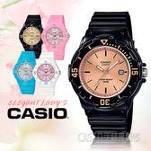 CASIO手錶專賣店 LRW-200H-9E2 兒童錶 防水100米 膠質錶帶 可旋轉錶圈 日期顯示 黑色玫瑰金面 LRW-200H