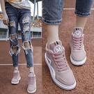 中筒鞋—新款高筒帆布鞋女學生運動韓版原宿ulzzang百搭女鞋秋季板鞋 依夏嚴選