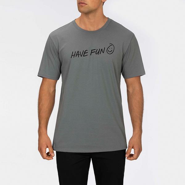 Hurley M PRM HAVE FUN SS SMOKE GREY/(BLACK) T恤-Premium Fit(男)