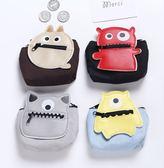 【H00942】小怪獸耳機包 可愛 手拿包 零錢包 耳機袋 收納袋 零錢袋