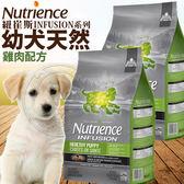 【zoo寵物商城】Nutrience紐崔斯》INFUSION天然幼犬雞肉配方狗糧-2.27kg