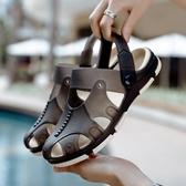六月專屬價 洞洞鞋夏季 沙灘鞋男涼拖涼拖鞋 防滑 涼鞋包頭 拖鞋兩用半拖