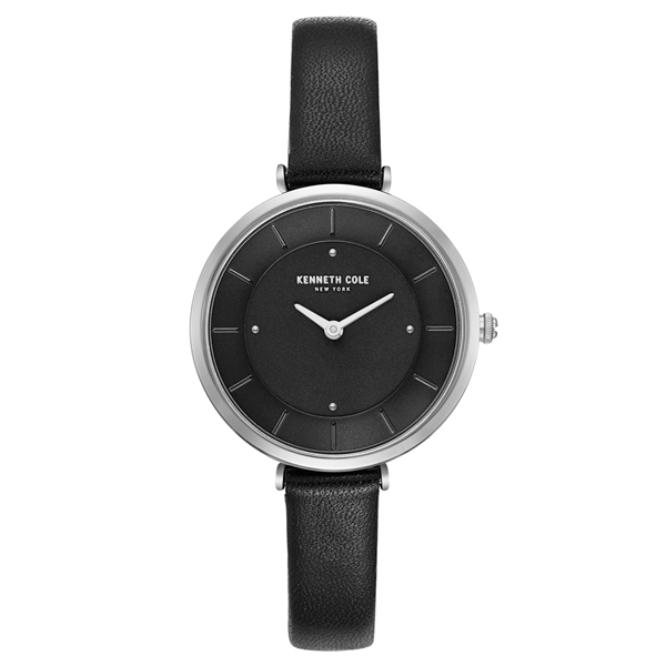 Kenneth Cole 別緻悅美時尚皮帶腕錶-KC50306002
