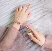 日韓時尚甜美簡約鈴鐺吊墜開口可調節手鐲