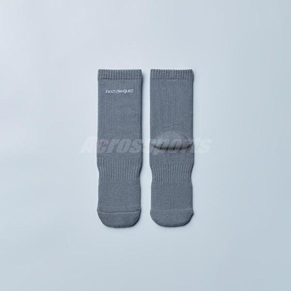 Nozzle Quiz 後研 Essential 基本款 休閒中筒襪 褪藍 男女款 單雙入 Free Size 23cm-29cm【ACS】 ACBSSX02BS