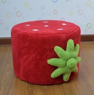 小沙發可愛草莓公主寶寶沙發幼幼稚園沙發組合(凳子/茶几)-炫彩腳丫折扣店