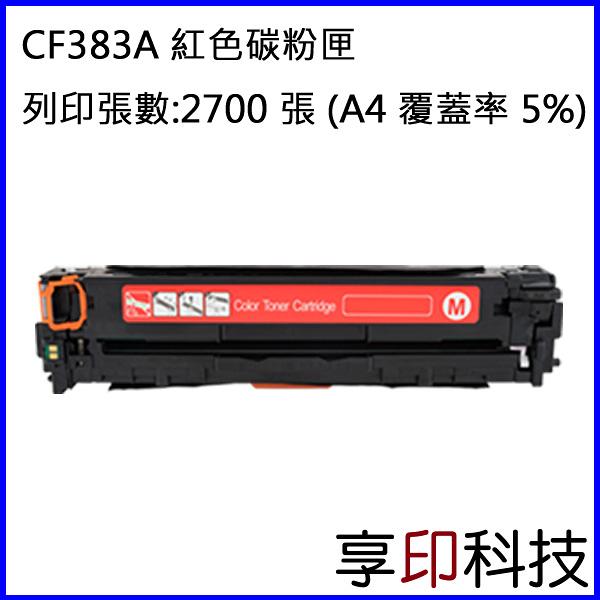 【享印科技】HP CF383A/312A 紅色副廠碳粉匣 適用 M476/M476nw/M476dw