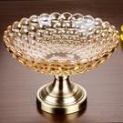尺寸超過45公分請下宅配歐式特大號果盤水晶玻璃創意高腳干果盤創