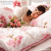 床包 / 雙人加大【純愛花語】含兩件枕套  100%精梳棉  戀家小舖台灣製
