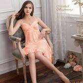 大尺碼睡衣 ~Annabery性感V領高腰浪漫 緞面爆款《SV6171》快樂生活網