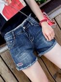 高腰牛仔短褲女夏季2019新款顯瘦百搭彈力外穿學生韓版網紅熱褲潮 玫瑰