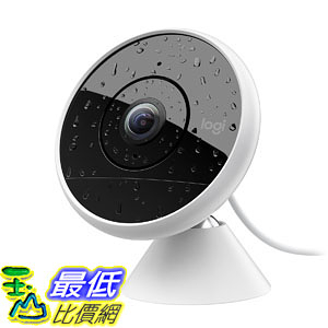 攝像機 Logitech Circle 2 Indoor/Outdoor Wired Home Security Camera Works Alexa HomeKit