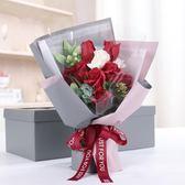 【雙12】全館低至6折情人節仿真玫瑰花束手捧花束生日禮物求婚浪漫表白香皂花愛人女生