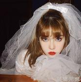 頭紗韓式新娘頭紗蓬蓬多層可愛頭紗簡約森系復古旅拍頭紗短款婚紗配飾 至簡元素