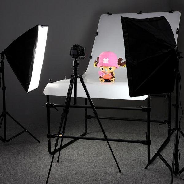 LED攝影棚燈套裝補光燈柔光箱攝影器材靜物拍照燈小型攝影燈 mks韓菲兒
