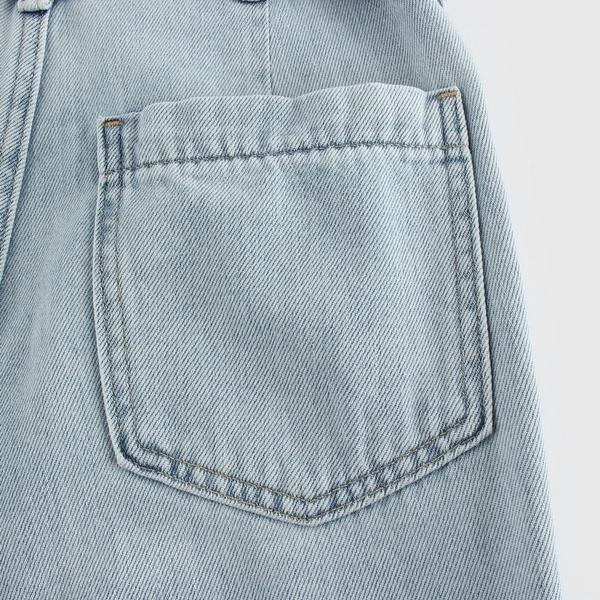Gap女裝時尚水洗繫繩寬鬆牛仔褲573707-淺色水洗