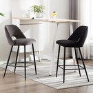 吧台椅現代簡約金屬高腳前台椅酒吧凳家用軟包LOFT設計師創意吧椅  快速出貨