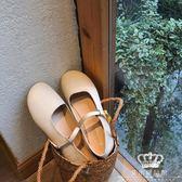 娃娃鞋 可愛一字扣平底單鞋小皮鞋女 艾米潮品館