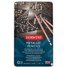 DERWENT達爾文 金屬色油性色鉛12色-鐵盒裝 DW2305599