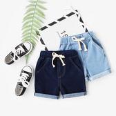 【年終】全館大促男童牛仔短褲寶寶針織五分褲夏裝新款童裝兒童沙灘褲正韓褲子