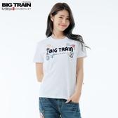 BigTrain夏季祭典情侶T女款-女-桃粉/白-S.M.L