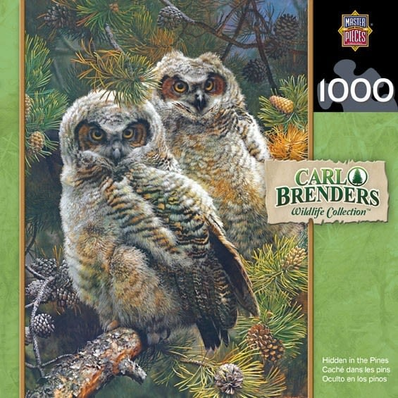 【KANGA GAMES】拼圖 野生動物系列 - 貓頭鷹 Wildlife Collection - Hidden in the Pines 1000片