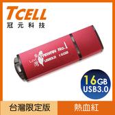 【TCELL 冠元】USB3.0 TAIWAN NO.1隨身碟 16GB 紅