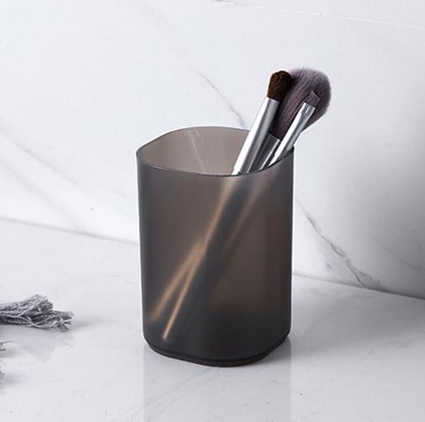 【BlueCat】簡約磨砂霧面圓形筆筒