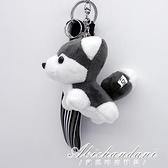 哈士奇毛絨小掛件哈士奇女生包包掛件氣車鑰匙扣掛飾小狗禮物公仔 黛尼時尚精品