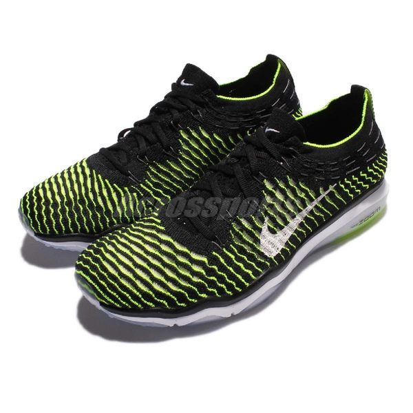 【四折特賣】Nike 訓練鞋 Wmns Air Zoom Fearless Flyknit 黑 綠 白 編織 運動鞋 女鞋【PUMP306】 850426-002