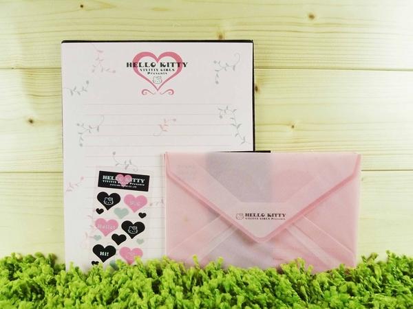 【震撼精品百貨】Hello Kitty 凱蒂貓~信籤組~粉黑【共1款】