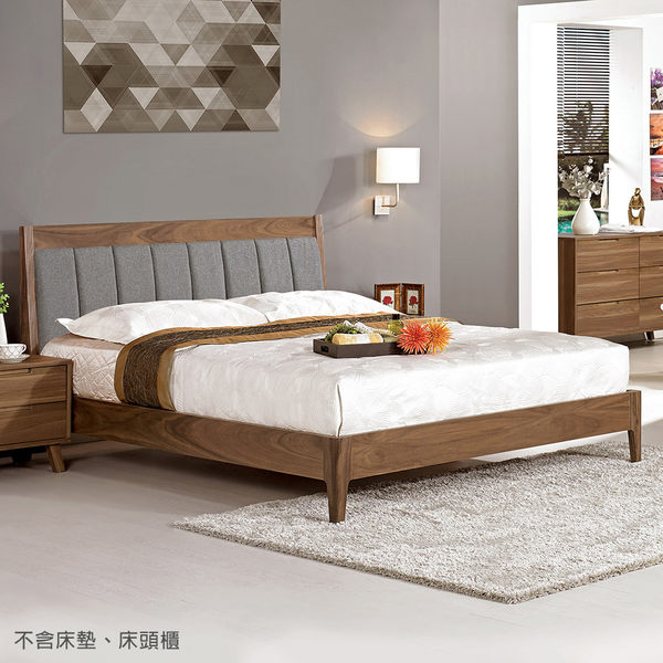 【森可家居】維爾達6尺雙人床 7CM057-1 不含床墊 雙人加大
