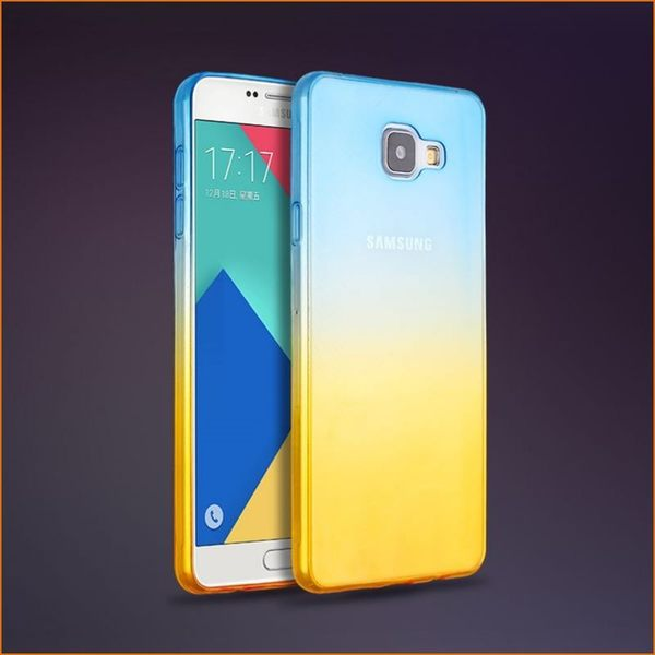 【SZ】a7 2016手機殼 TPU雞尾酒漸變 samsung a7 2016版 手機殼 (A5 2016)手機殼 a710手機殼 A510軟殼