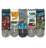 [韓風童品](5雙/組)男童車車款棉質襪子  男童直板襪    兒童襪子15-19CM/19~23CM