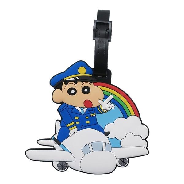 【日本正版】蠟筆小新 行李吊牌 行李掛牌 行李箱吊牌 吊飾 野原新之助 - 046670