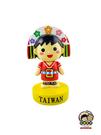 【收藏天地】台灣紀念品*Q版人物公仔-阿美族女孩 裝飾 送禮 文創 觀光 禮品