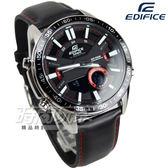 EDIFICE EFV-C100L-1A 公司貨 3D立體時刻多層次賽車計時男錶 真皮錶帶 黑x紅 EFV-C100L-1AVDF CASIO卡西歐