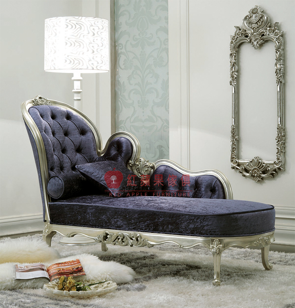 [紅蘋果傢俱] XGL-082 歌德系列 新古典 歐式 法式 貴妃椅 沙發椅 造型椅 裝飾椅 工廠直營