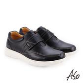 A.S.O 超能耐二代 牛皮方楦魔鬼氈機能休閒鞋