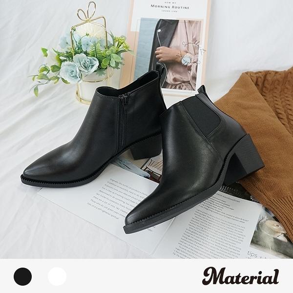 短靴 時尚尖頭側鬆緊短靴 MA女鞋 T8096
