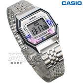 LA680WA-4C 復古數字型電子錶 玫瑰花系 女錶  學生錶 銀色 LA680WA-4C CASIO卡西歐