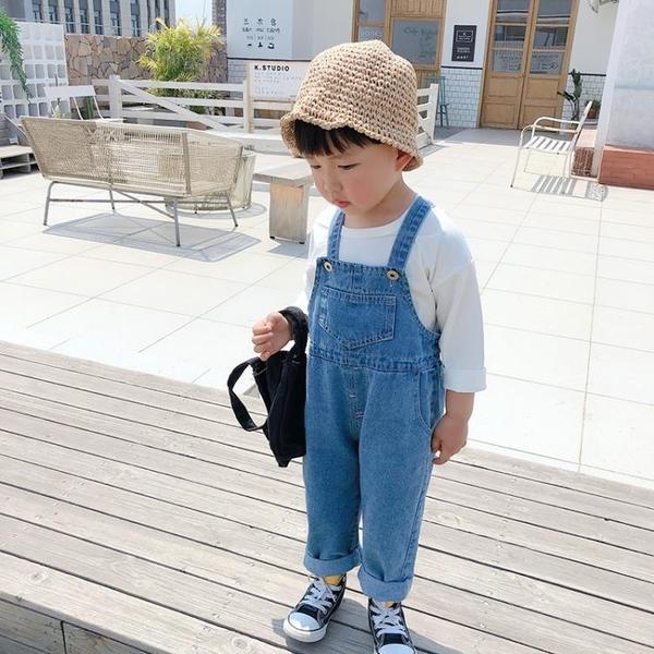 男童吊帶褲春秋嬰童秋裝兒童女韓版洋氣吊帶寶寶可愛小童牛仔褲潮 【端午節特惠】