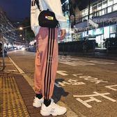 冬季男款運動褲  秋季褲子男士韓版潮流束腳運動褲寬鬆直筒休閒褲 俏女孩