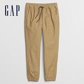 Gap男童 簡約風格鬆緊休閒長褲 602573-卡其色