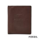 FOSSIL Travel 咖啡色真皮RFID護照夾 MLG0358201